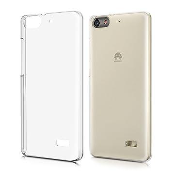 kwmobile Funda para Huawei G Play Mini - Carcasa de [plástico] para móvil - Protector [Trasero] en [Transparente]