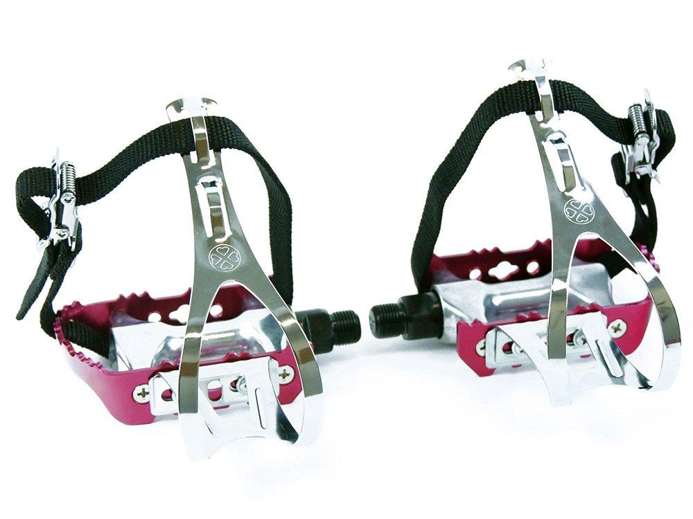 Rote Rennrad Rennrad Rote Fahrrad Pedale mit Pedalhaken e023be