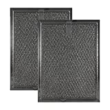 2 Pack Air Filter Factory Compatible Replacement for Frigidaire FGMV174KFA Microwave Mesh Grease Filter 6'' x 8'' x 3/32'' AFF81-M2