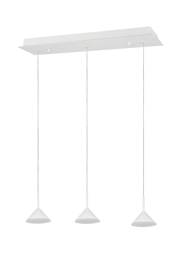 Aspen Creative 61063-2 Adjustable LED 3 Light Hanging Pendant White