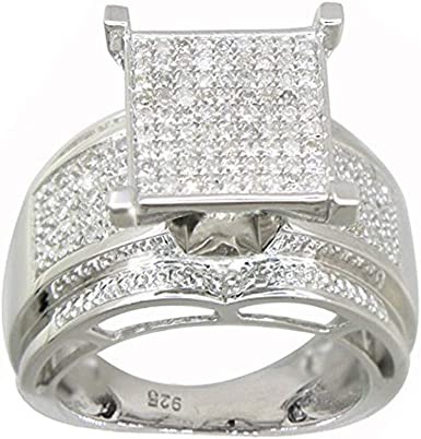 ROUND DIAMOND RINGS in 925 sterling Silver Round Diamonds Wedding /& Engagement rings  Stackable ring Christmas giftperfect gift for him