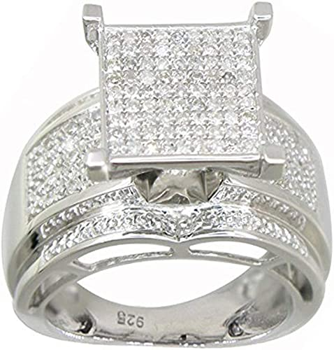Details about  /Solitaire Round White Gemstone Double Halo 925 Sterling Silver Women Ring