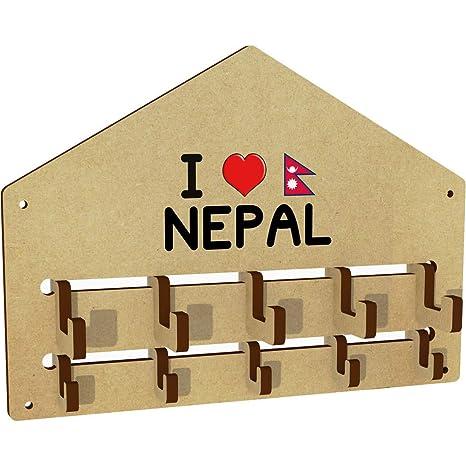 Azeeda I Love Nepal Ganchos de la Capa montados en la ...