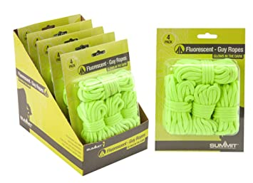 Summit Guy Ropes Hi Vis With Tensioners 4 pack