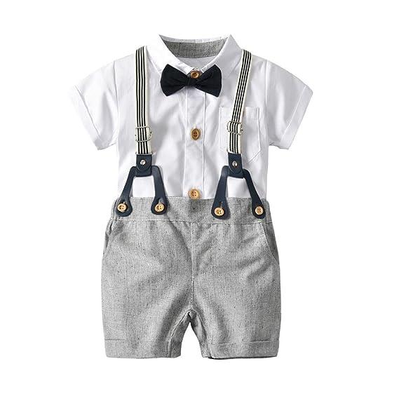 PAOLIAN Conjuntos para Bebe Niños Camisas y Pichi Verano 2018 Ropa para Recién Nacidos Bebe Niños