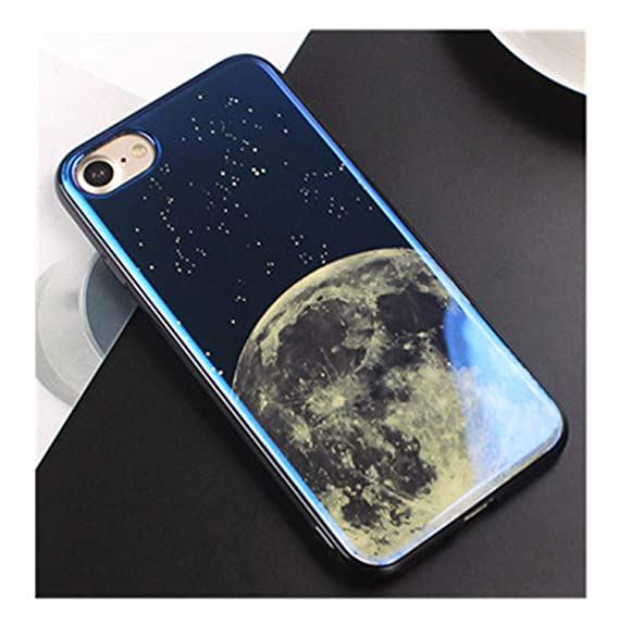 74d1ece0130544 Image Unavailable. Image not available for. Color: Electroplate Blue Light  Soft Phone Cover for iPhone X 6 6S 7 8 ...