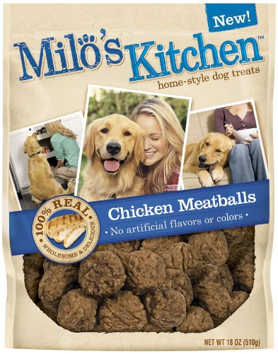 Milo's Kitchen Chicken Meatballs, 18-Ounce (Pack of 4) by Milo's Kitchen