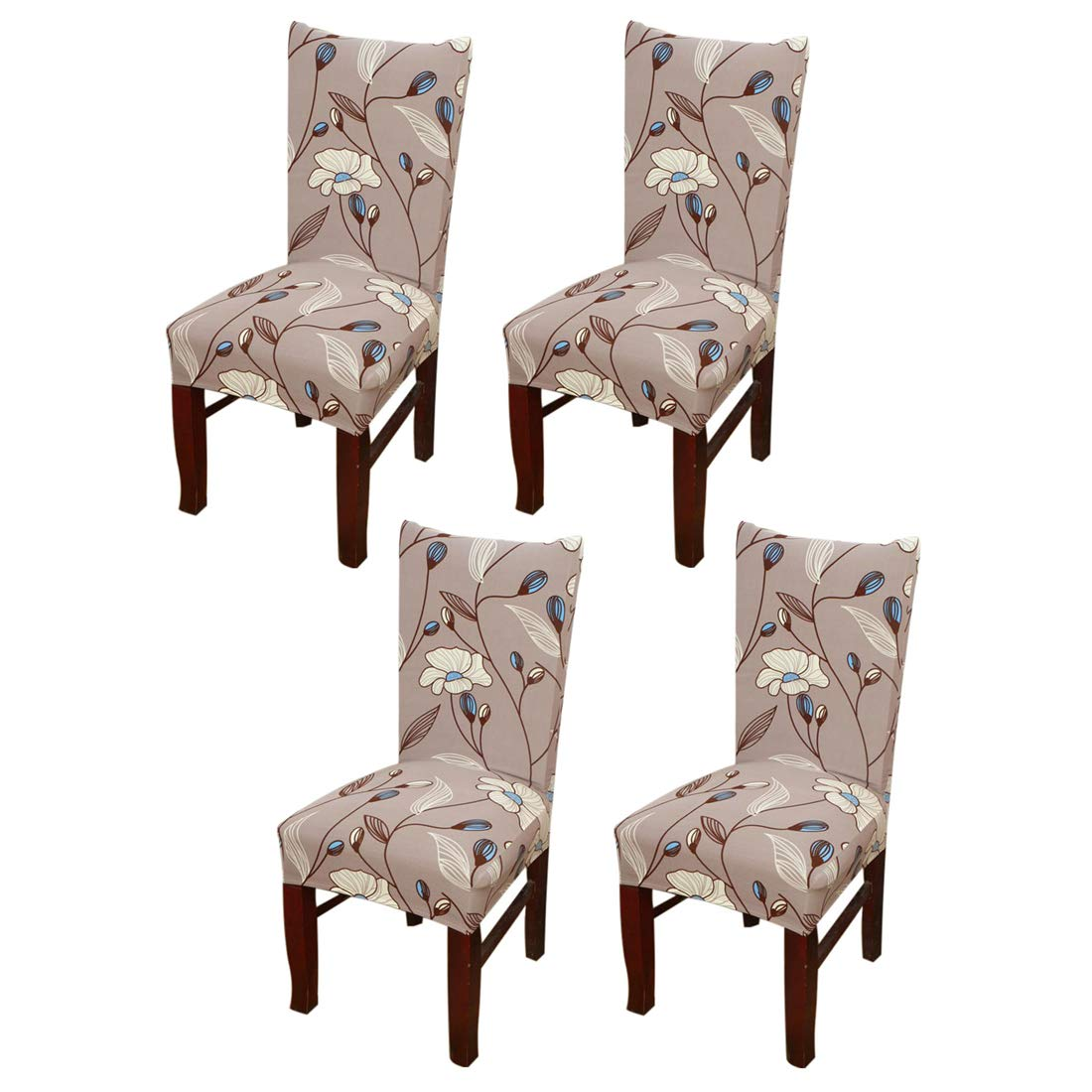 Jinshou 2PCS Dining Chair Cover Short Stretch Dining Room Slipcover Banquet Seat Protector 1#