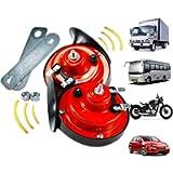 2PCS 300db Train Horn for Trucks,Loud Air Electric Snail Single Horn,Waterproof Motorcycle Snail Horn,12v Double Horn…