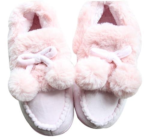 cattior - Pompones cálido Zapatillas Zapatos Zapatillas de casa: Amazon.es: Zapatos y complementos