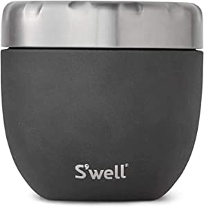 S'well Stainless Steel Bowls Triple-Layered Vacuum-Insulated Containers Keeps Food and Drinks Cold for 11 Hours and Hot for 7 - with No Condensation - BPA Free, 21.5oz, Onyx