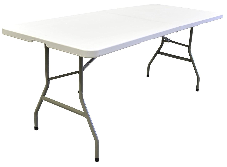 Mesa con patas plegables, para grandes comidas familiares o de amigos.