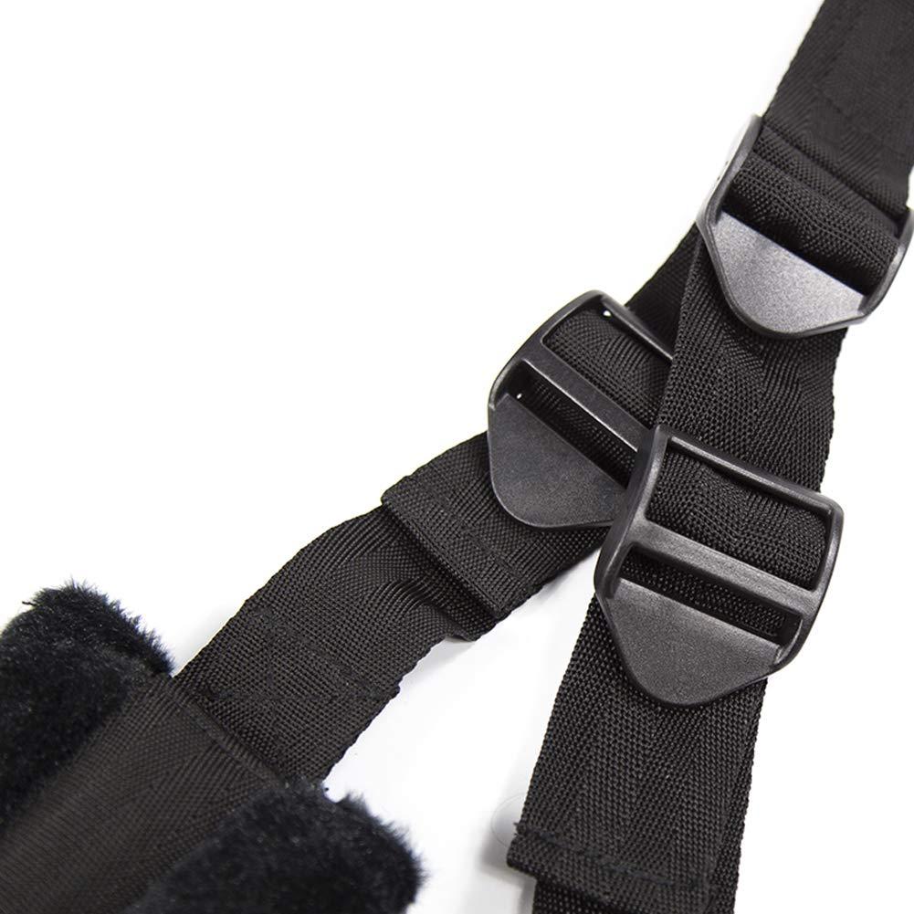 Salovin Adult Yoga Swing, Comfortable Seat for Couples Play, Arm Straps , Leg Straps, Nylon Straps -Adjustable, Black by Salovin (Image #5)