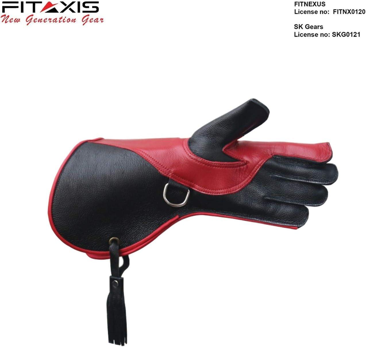 tama/ño 13.5-L FITAXIS Color Rojo y Negro Guantes de halc/ón de Doble Piel para Uso en Clima fr/ío Mano Izquierda
