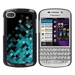 Design for Girls Plastic Cover Case FOR BlackBerry Q10 Polygon Disco Pattern Music Equalizer OBBA