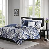 Madison Park Vienna 6 Piece Coverlet Set Indigo King/Cal King