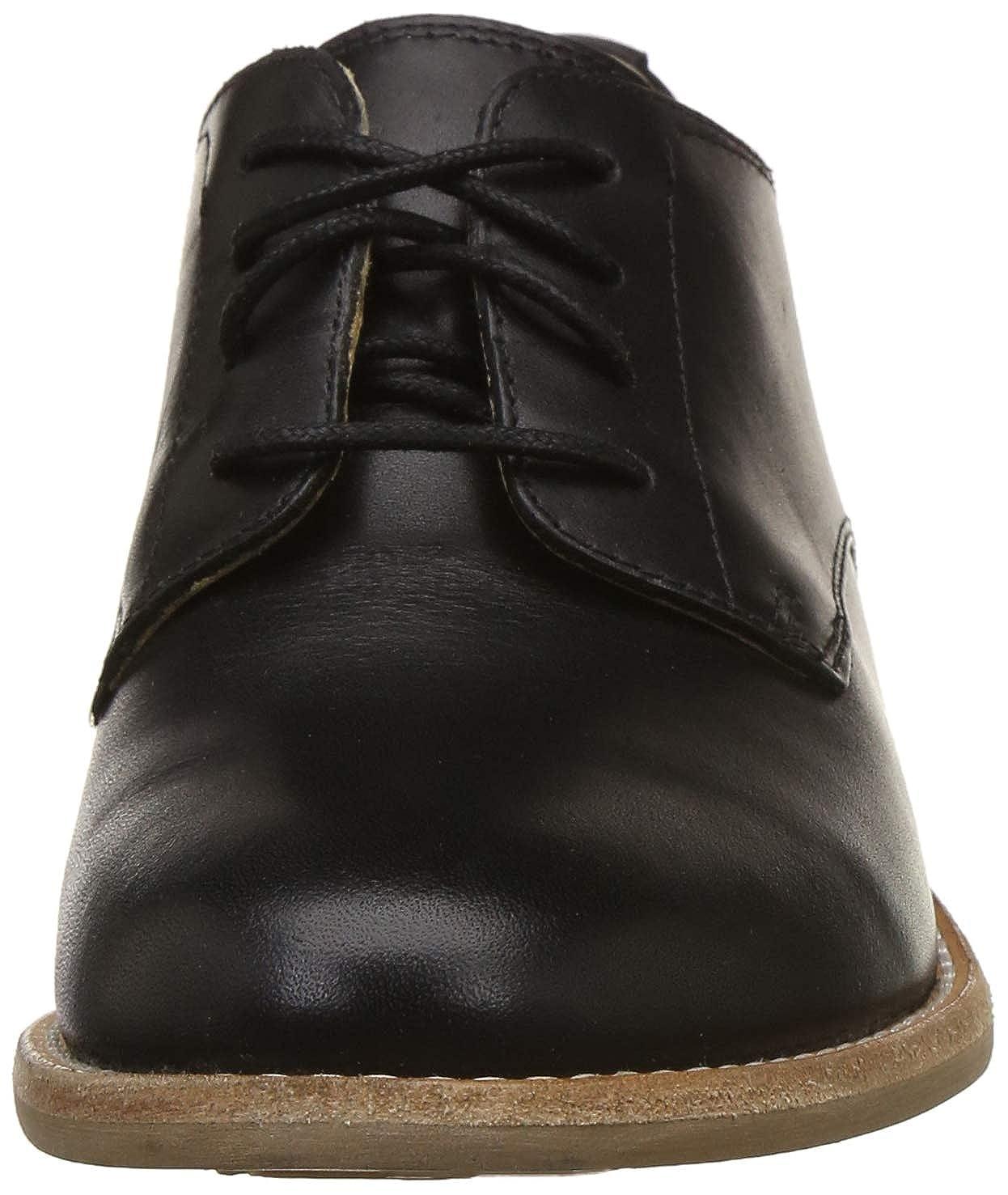 Clarks Damen Schnürhalbschuhe Edenvale Ash Black Leather 26136303