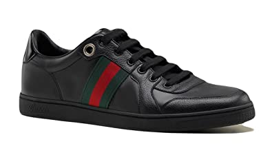 8b4b6fb4ecfd9 Amazon.com  Gucci Men s Lace Up Trainer With Interlocking G   Web ...