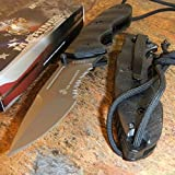 New USMC Marines Spring Assisted Lanyard Tactical Black G10 Folding Pocket Eco'Gift LIMITED EDITION Knife with Sharp Blade Great For Fun and Practical Use!