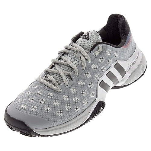 detailed look b2d2c e5761 adidas 2015 Barricade Men s Tennis Shoes Grey Iron Silver ...