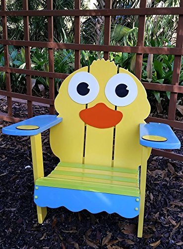Yellow Duck Patio Chair, Personalized Adirondack Style Childrenu0027s Chair,  Toddler Time Out Chair,