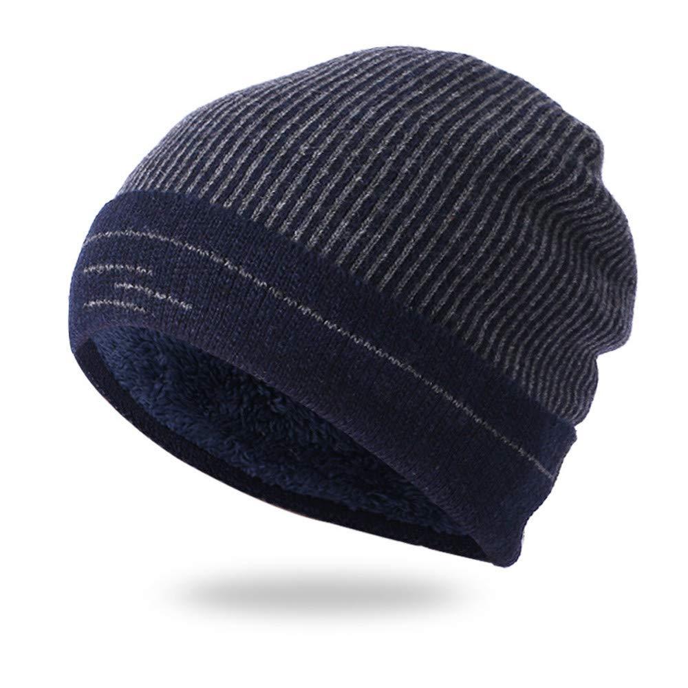 39447fd5111 Amazon.com - SUKEQ Beanie Hat for Men and Women Winter Warm Fleece Lining  Knit Hat Slouchy Thick Snow Ski Skull Cap (Black) -
