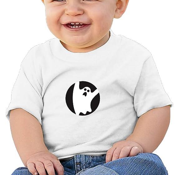 amazon com scary ghost emoji baby girlsâ boys cartoon short sleeve