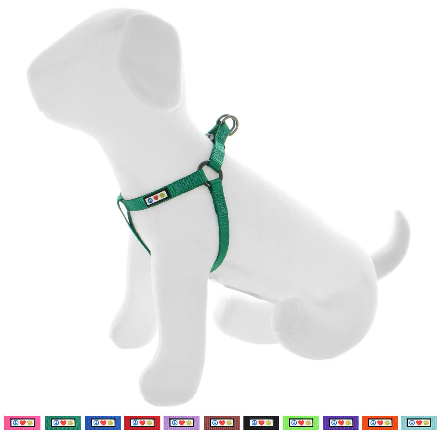 Pawtitas Pet Solid Color Step In Dog Harness, Step in or Vest Harness, Comfort Control, Training Walking of your Puppy/Dog Small Dog Harness S Dog Harness Lush Green