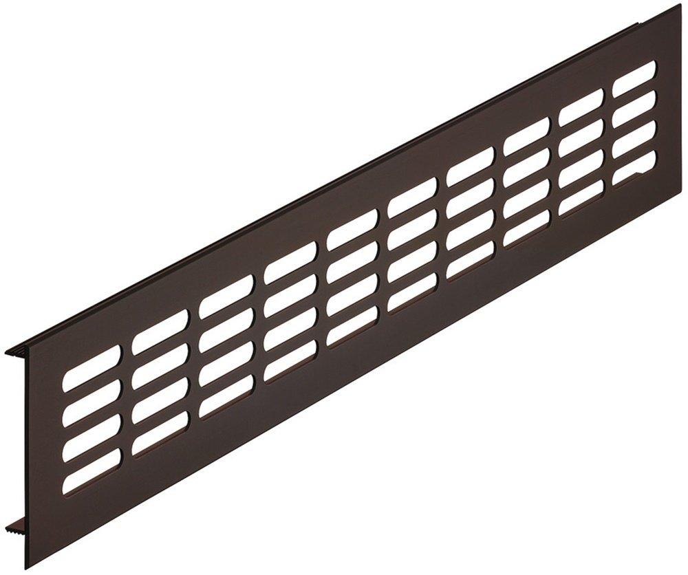 Ventilazione Ventilazione di forma rettangolare, Alluminio, bronzo scuro di lamiera mobile & porta di maglia ovale –  H6001 | Lunghezza 300 mm | Larghezza 80 mm | Made in Germany | arredamento accessori di GedoTec®