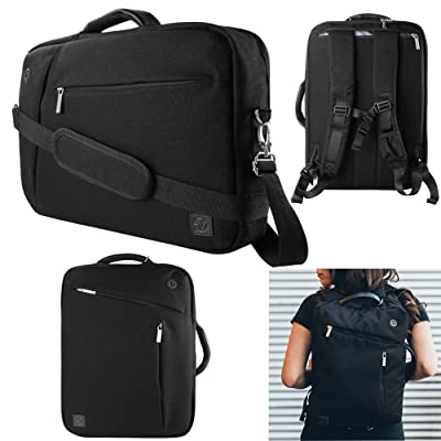 """12-12.9 Inch Water Resistant Laptop Sleeve Bag Briefcase Backpack with Handle and Straps for Microsoft Surface Pro 4/3/New Surface Pro 2017 12.3"""", 11 11.6 12 Inch Tablet Laptop Carrying Bag"""