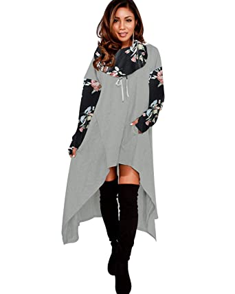 Giking Womens Plus Size Hoodies Dress With Pockets Loose Fit
