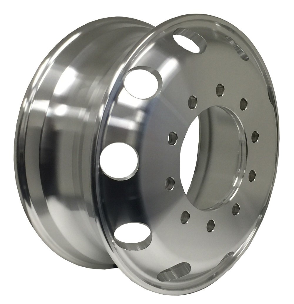 Zxly Zx00205MF Aluminum Wheel with Machined Finish (22.5x8.25''/10x11.25mm, 167mm offset) by ZXLY