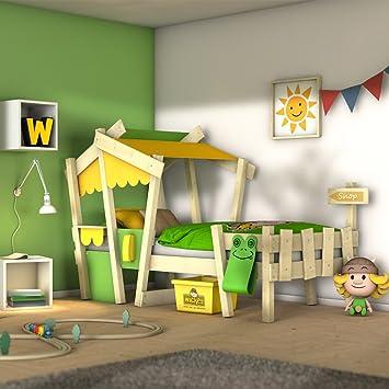 WICKEY Lit enfant CrAzY Candy Lit simple Lit cabane avec sommier à lattes