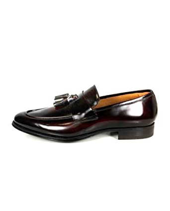 a4b51fffc65 Zara Men Burgundy leather loafers 2655 302 - Red - 44 EU  Amazon.co.uk   Clothing