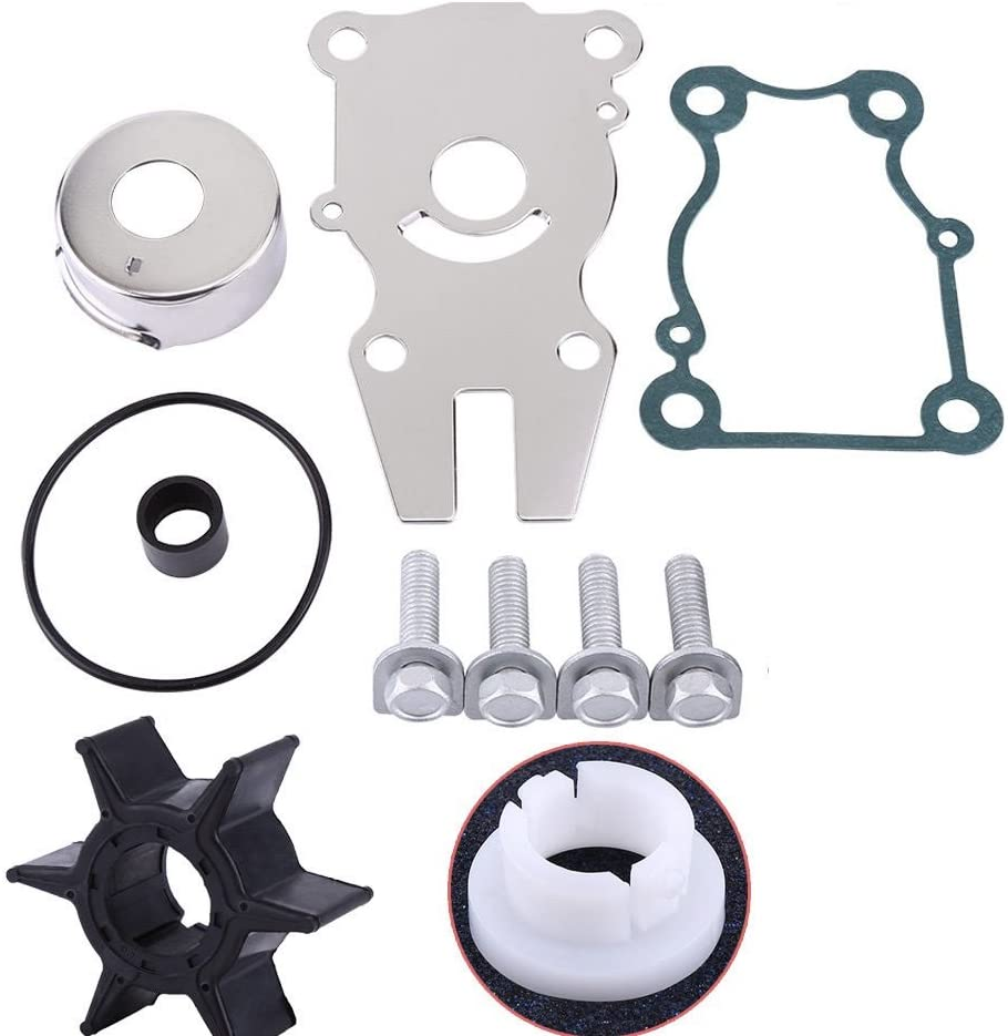 Createshao Outboard Water Pump Impeller Kit for Yamaha 50HP 60HP 70HP Boat Engine 6H3-W0078 6H3-W0078-00 6H3-W0078-02