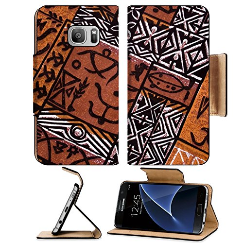 Pow Wow Man Indian Costumes (Liili Premium Samsung Galaxy S7 Flip Pu Leather Wallet Case aboriginal design from a native cloth Photo 306665 Simple Snap Carrying)