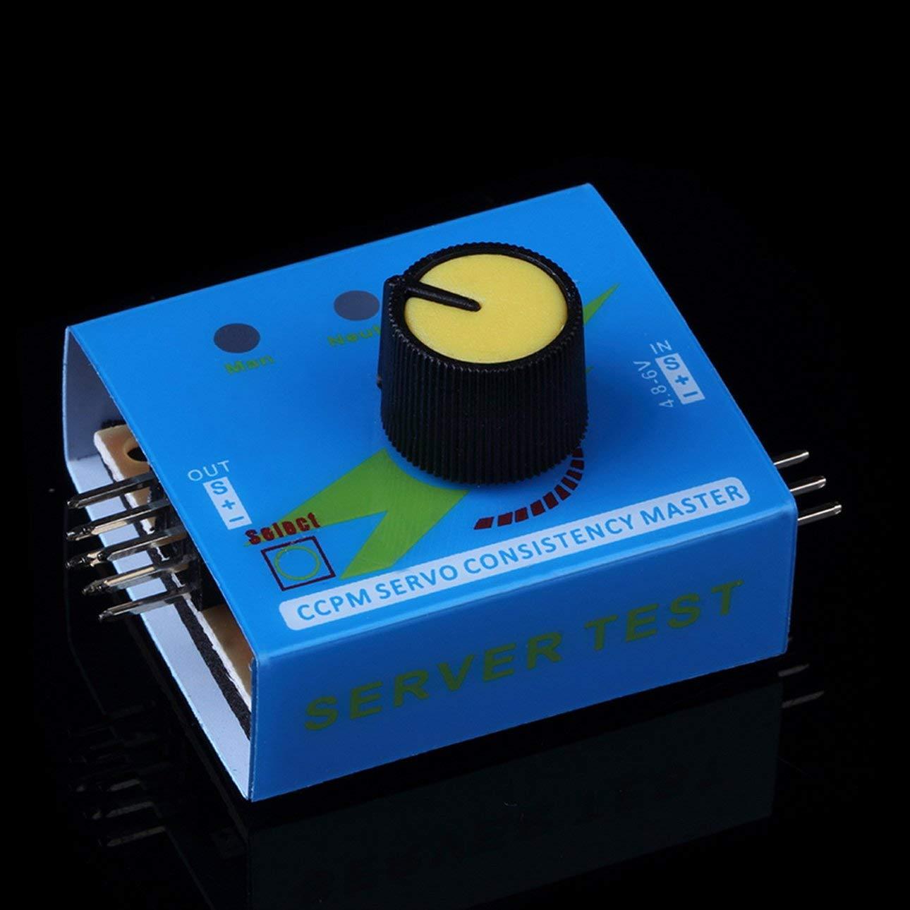 Liobaba Multi Servo Tester 3CH ECS Consistency Speed Controler Power Channels CCPM Meter Master Checker