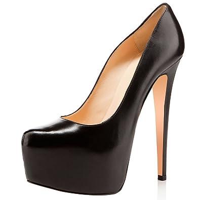 c196584ea53d FSJ Women Extreme High Heels Platform Pumps Pointed Toe Embroidery Slip On Dress  Shoes Size 4