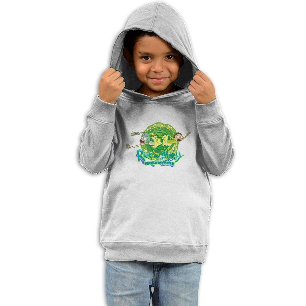Stacy J. Payne Toddler Rick and Morty Cool Hoodie39 White