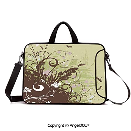 6d2d1313572c Amazon.com: AngelDOU Neoprene Printed Fashion Laptop Bag Retro Style ...
