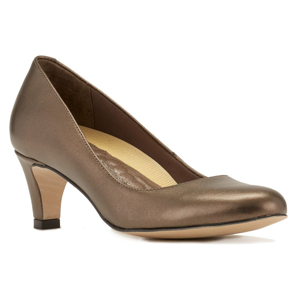 Walking Cradles Women's Joy Dress Pump B01IAA63Z2 4 B(M) US|Bronze Soft Metallic