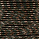 Paracord Planet's 1/4 inch, 1000 lb Tensile Strength Paracord in 50 and 100 foot hanks.