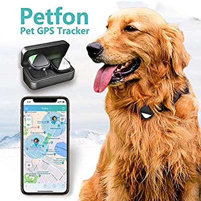 PetFon Pet GPS Tracker, No Monthly Fee, Real-Time Tracking Collar Device, APP Control for Dogs and Pets Activity Monitor: Pet Supplies