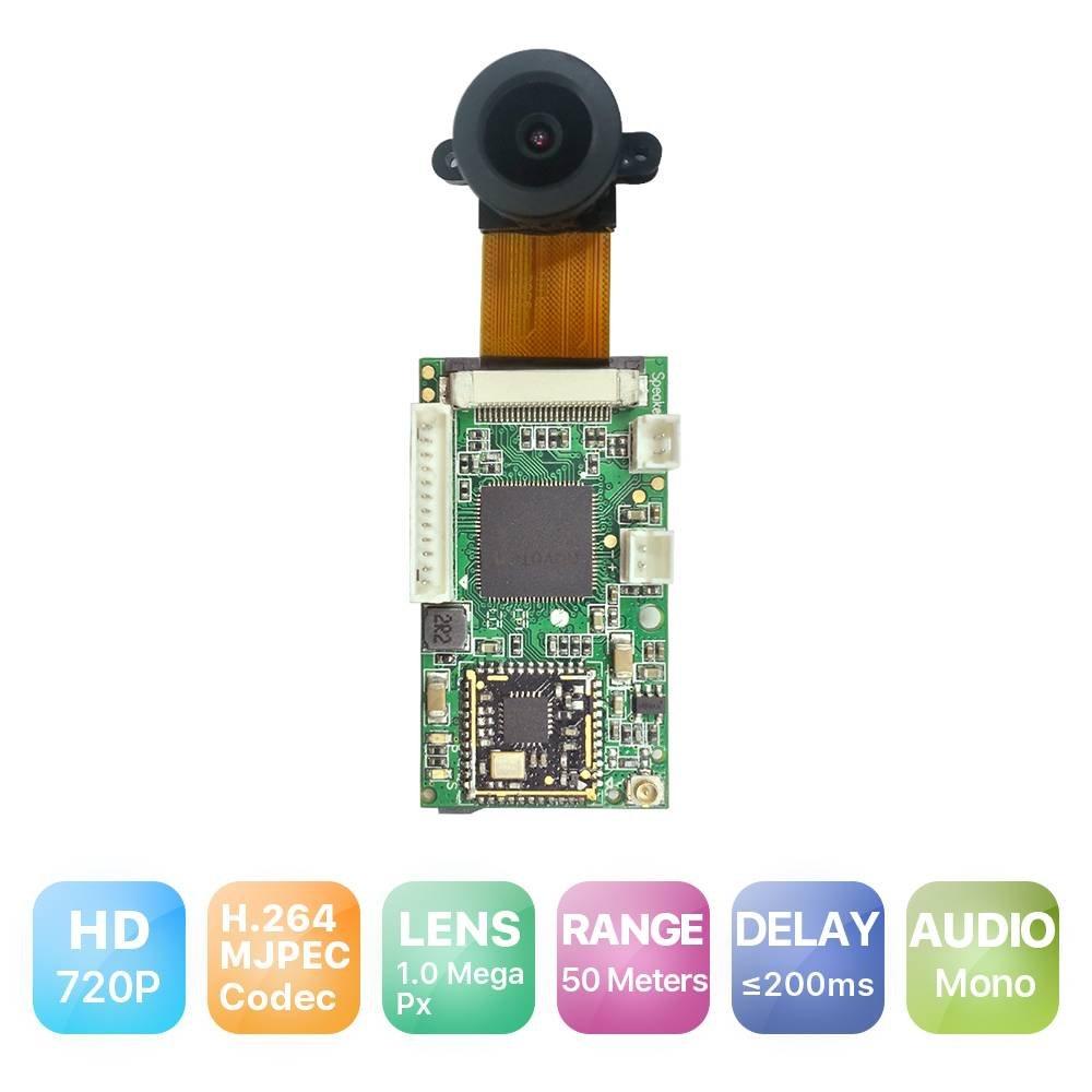 RAKWireless RAK5206 Video Module 720P HD, P2P Cloud Server, WiFi/Linux/Robot Camera Module, 2.4G WiFi, Mini IP Camera, FPV/Drone Camera Module