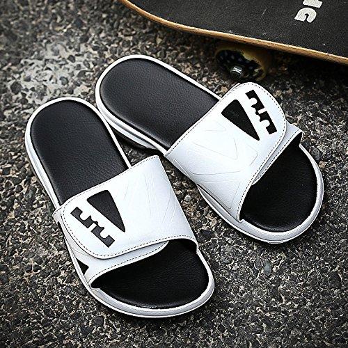 Xing Lin Sandalias De Hombre Nuevo Acolchado Zapatos De Hombre Zapatillas Tendencia Flip-Flops Sandalias Deporte Masculino Zapatillas Casual Blanco 398887