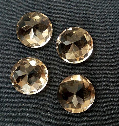 Quartz Gem Faceted Diamond - 6