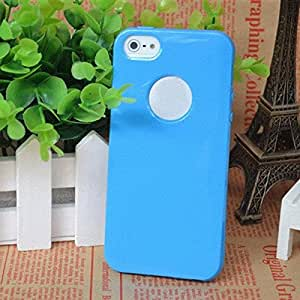 Blue Soft Colored TPU Silicone Skin Case Cover Protector Shell For Apple Candy Case - iPhone 4 4S
