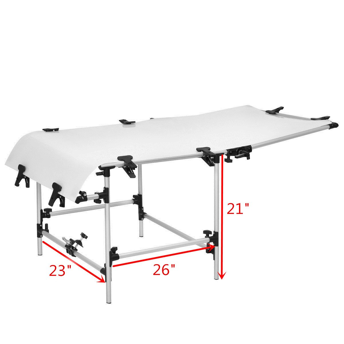 Safstar Photo Shooting Table PVC Board Non-Reflective Photo Studio Bench (23''x51'') by Safstar (Image #5)