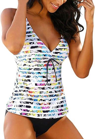MODOQO Womens Long Sleeve Floral Print One Piece Swimsuit Tummy Control Swimwear