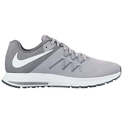 Nike Zoom Winflo 3 Wolf Grey White Cool Grey White Mens Running Shoes